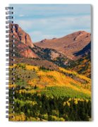 Fall Colors On The North Face Of Pikes Peak Spiral Notebook