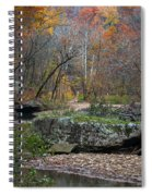 Fall On The Kings River Spiral Notebook
