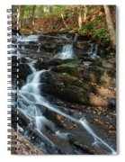 Falling Waters In October Spiral Notebook