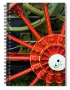 Fancy Tractor Wheel Spiral Notebook