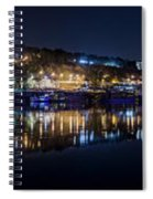 Fantastic Belgrade Night Reflection Spiral Notebook