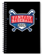 Fantasy Baseball Design 2017 Spiral Notebook