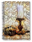 Fantasy Candle Spiral Notebook