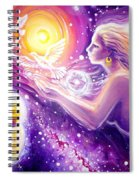 Fantasy Painting About The Flight Of A Dream In The Universe Spiral Notebook