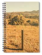 Farm Fields Of Eumundi, Sunshine Coast Spiral Notebook