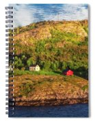 Farm On The Edge Spiral Notebook