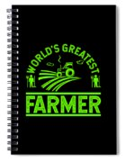 Farmer Shirt Worlds Greatest Farmer Gift Tee Spiral Notebook