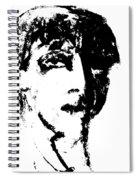 Fashion Male Model Portrait Spiral Notebook