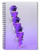 Fashion Models Looking Chic In Violet With A Touch Of Pink Spiral Notebook