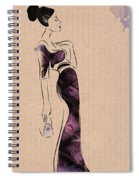 Fashion Woman Portrait Spiral Notebook