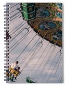 Father And Son On The Swings Spiral Notebook