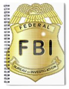 Fbi Badge Spiral Notebook