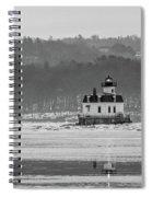 February Morning At Esopus Light Spiral Notebook
