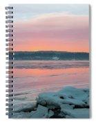 February Sunrise On The Hudson Spiral Notebook