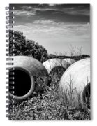 Feed Me - Black And White Spiral Notebook