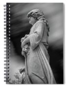 Female In Cemetary II Spiral Notebook