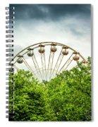 Ferris Wheel Behind Trees Spiral Notebook