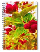 Festive Red Berries On Dancing Green Leaves Spiral Notebook