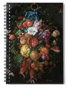 Festoon Of Fruit And Flowers, 1670 Spiral Notebook