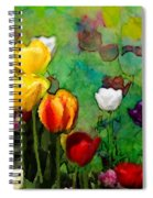 Field Of Tulips Spiral Notebook