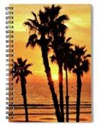 Fiery California Sunset Oceanside Beach Spiral Notebook
