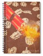 Fiery Fuse Spiral Notebook