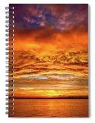 Fire Over Lake Eustis Spiral Notebook