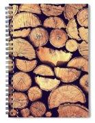 Firewood Logs Spiral Notebook