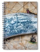 Firing Canon Carving Spiral Notebook