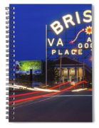 First Night Of The Bristol Sign With New Led Bulbs Spiral Notebook