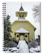 First Presbyterian Church In The Snow Spiral Notebook