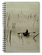 Fisherman In The Mist Spiral Notebook