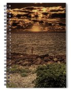Fisherman On The Rocks Spiral Notebook