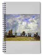 Fishermens Wives At The Seaside - Digital Remastered Edition Spiral Notebook