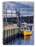 Fishing Boats At Wharf In Marie Joseph Spiral Notebook