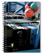Abstract Fishing   Spiral Notebook