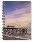 Fishing Pier Sunrise Spiral Notebook