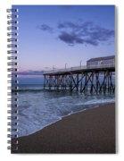 Fishing Pier Sunset Spiral Notebook