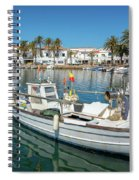 Fishing Port In Menorca Spiral Notebook