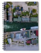 Fishtown Dam Panorama From Above Spiral Notebook