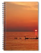 Fishy Geese Sunset Spiral Notebook