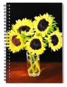 Five Sunflowers Spiral Notebook