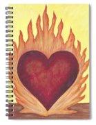 Flaming Heart Spiral Notebook