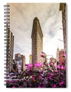 Flatiron And Flowers Spiral Notebook