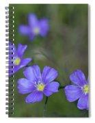Flax Wildflowers Spiral Notebook