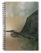 Flight Of The Great Blue Spiral Notebook