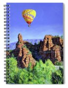 Flight Over Thumb Rock Spiral Notebook