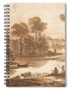 Floodplain With Watering Place  C  Spiral Notebook