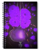 Floral Roses With So Much Passion In Purple  Spiral Notebook