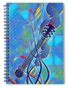 Flow Of Music Spiral Notebook